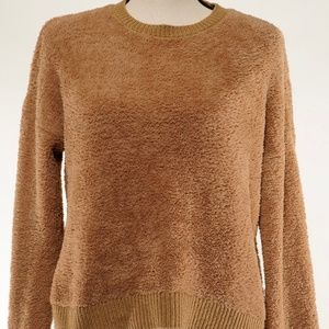 Topshop Teddy Brown Crew Neck Sweater Size 8